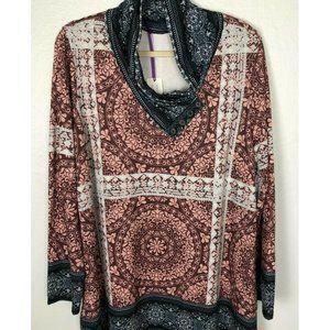 AZALEA by Firmiana Plus Shawl Collar Tunic Top